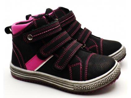 SLOBBY 46-0540-T1 dětské boty černorůžové