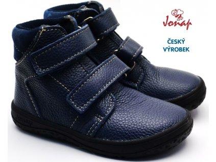 JONAP B2m Dětské barefoot boty modré
