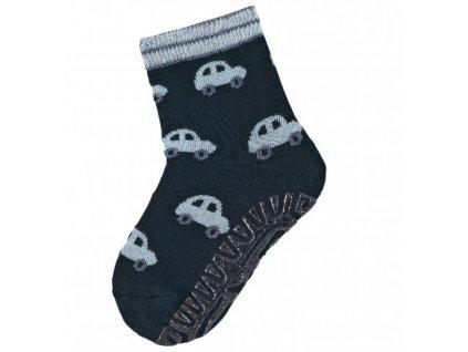 STERNTALER 8131900 Protiskluzové ponožky auta modrá