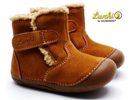 Zimní barefoot boty LURCHI 33-13992-24 tan