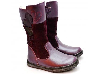 Kozačky PONTE PV219-DA06 fialové