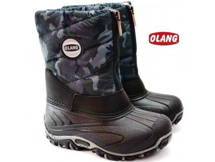 Zimní boty OLANG BMX 884 maskáč
