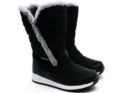 Dívčí sněhule LANSON Softshell černé