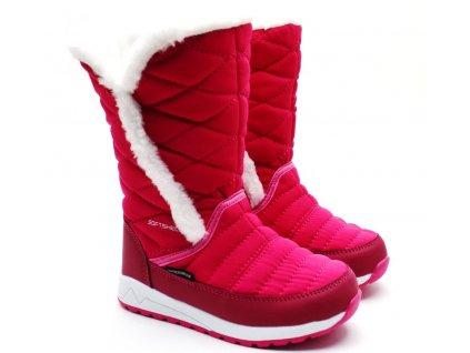 Dívčí sněhule LANSON Softshell růžové