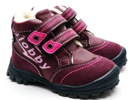 Zimní obuv Slobby 46-0024-T1 vínové