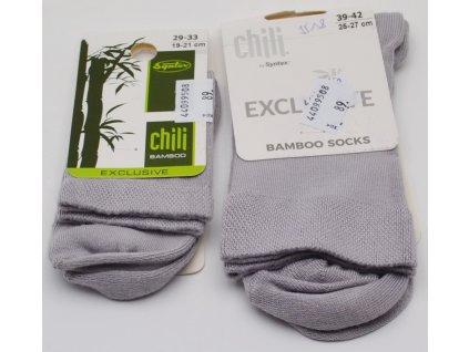 Bambusové ponožky Tuptusie šedé