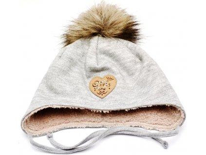 Zimní čepice na uši RDX 3721 šněrovací
