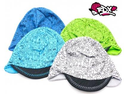 Čepice na uši + měkký kšilt RDX 0168 Smajlíci