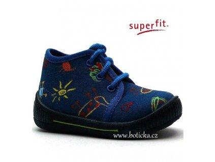 SUPERFIT 6-00250-88 bačkory indigo kombi