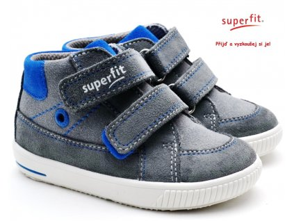 SUPERFIT 6-06350-25 grau/blau Dětské boty