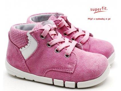 SUPERFIT 6-06335-55 rosa/weiss Dětské boty