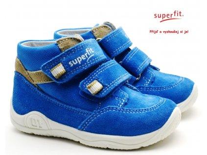 SUPERFIT 6-09415-81 blau/beige Dětské boty