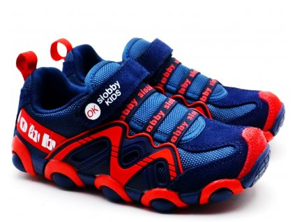 SLOBBY 172-0013 červenomodré botasky