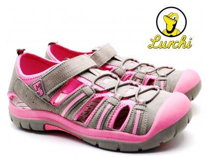 Sandále trekové LURCHI 33-21613-35 grey