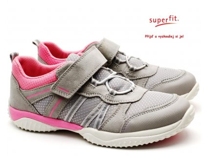 SUPERFIT 6-06383-26 Dětské boty hellgrau/rosa
