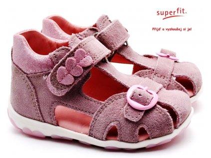 Dětské sandále SUPERFIT 609042-90 lila/rosa