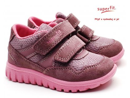 SUPERFIT 609191-90 lila/rosa Dětské boty