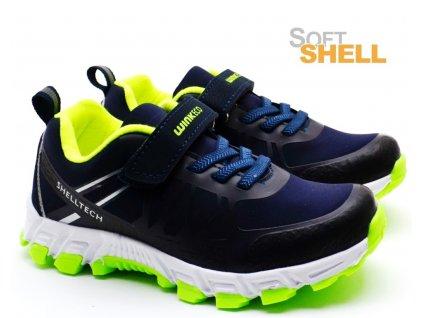 Softshell obuv WINK ECO FE01954 modrozelené