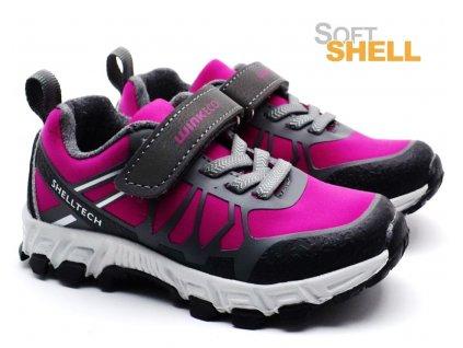 Softshell obuv WINK ECO FE01954 černorůžové