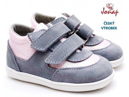 JONAP 051Sv Dětské boty šedorůžové