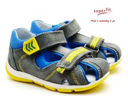 Dětské sandále SUPERFIT 6-09145-25 hellgrau/blau