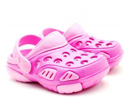 WINK ECO Clogs pantofle nazouvací růžové