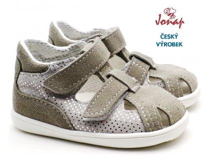 Dětské sandále JONAP 041s šedostříbrné