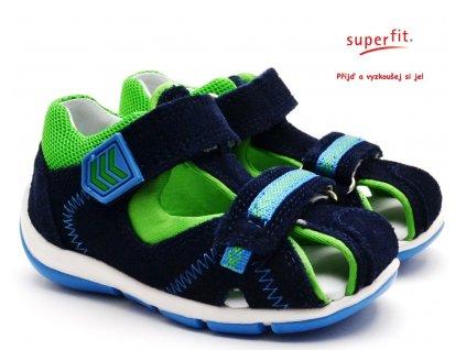 Dětské sandále SUPERFIT 6-09145-80 blau/grun