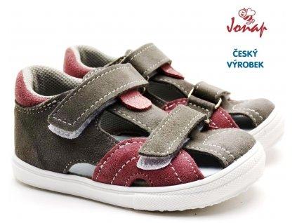 Dětské sandále JONAP 036S šedorůžové