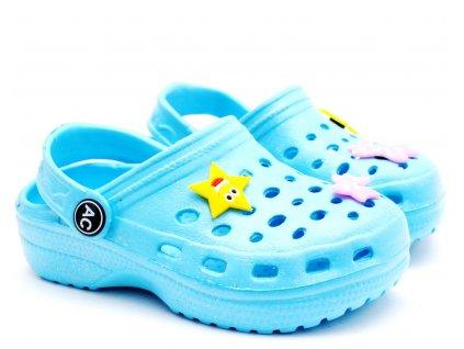 American Club Clogs pantofle nazouvací modré