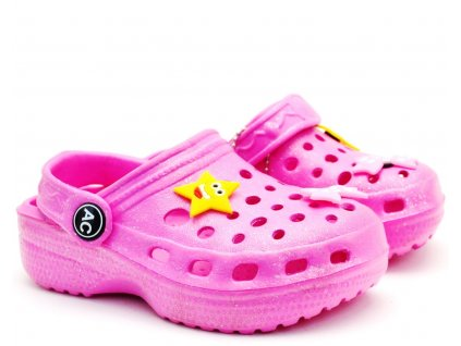 American Club Clogs pantofle nazouvací růžové