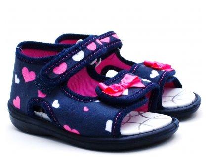 Dětské sandále 3F 2Pu26 Srdíčka