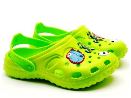 Nazouvací pantofle SLOBBY 191-0004 zelené