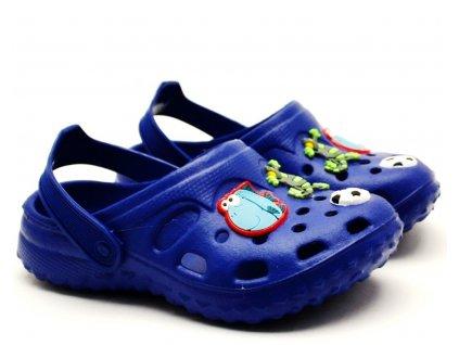 Nazouvací pantofle SLOBBY 191-0004 modré