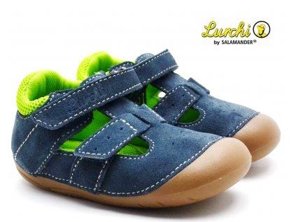 LURCHI 33-13998-22 navy Barefoot sandále