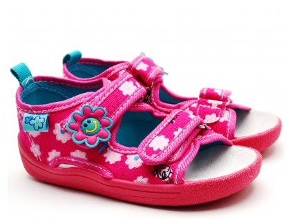 Textilní sandále SLOBBY 151-0012 růžové
