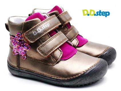 Dětské barefoot boty DDstep 063-879C bronz