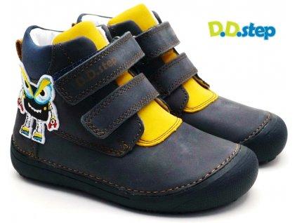 Dětské barefoot boty DDstep 063-879 modré
