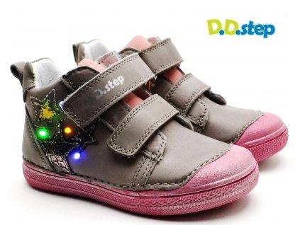 Dětské boty DDstep 049-990B šedé