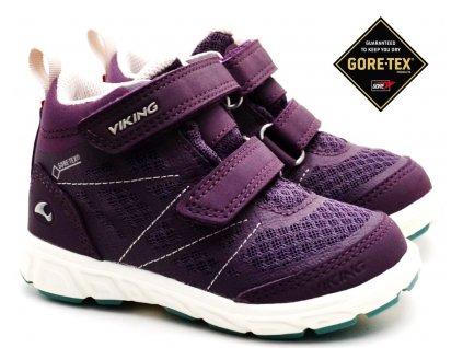 VIKING 3-47305 purple Dětské boty