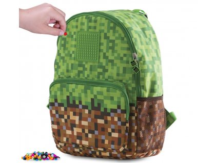 PIXIE CREW PXB-02-83 batoh MINECRAFT zeleno-hnědý