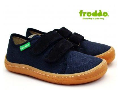 Textilní barefoot FRODDO G1700270-2 tm. modré