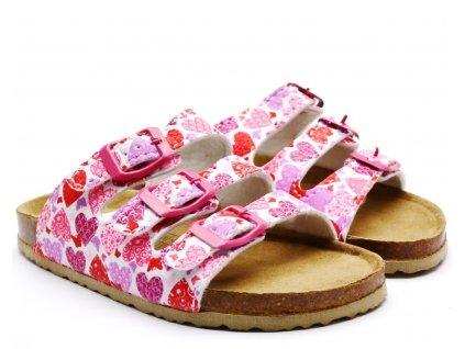 Bio pantofle 704208 fuxia