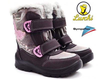Zimní boty LURCHI 33-31045-39 Aubergine