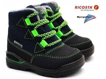 Zimní boty RICOSTA 39301 182 ozean grun