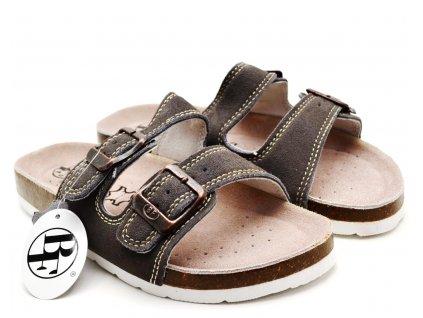 Pantofle BF BY2131299 šedé