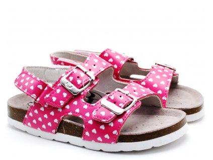 Pantofle BF BA5251118 růžové s páskem