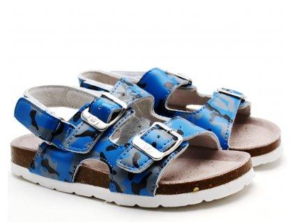 Pantofle BF BA5251117 modré s páskem