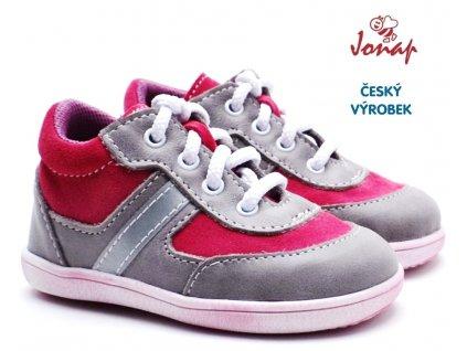 JONAP 727251-051m Dětské boty šedorůžové