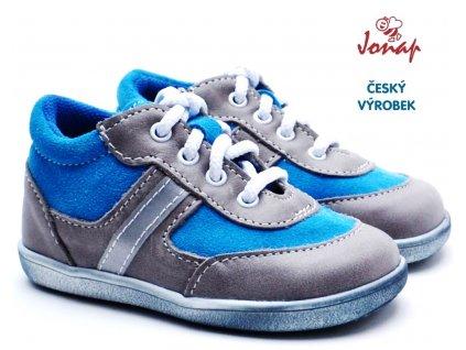 JONAP 727251-051m Dětské boty šedotyrkys